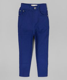 Look what I found on #zulily! Royal Blue Jeggings - Girls #zulilyfinds