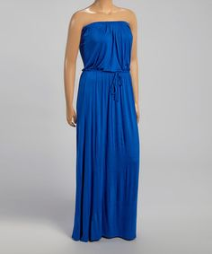 Look what I found on #zulily! Royal Blue Strapless Maxi Dress - Plus by Loveappella #zulilyfinds