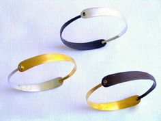 handmade bangle bangle black gold plated modern style handmade bracelet silver oxidation brass woman 65.00 EUR #goriani