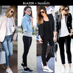 Daily Style Finds: How to Style Sneakers & Blazer