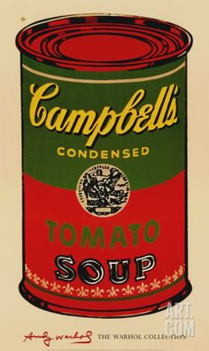 Campbell's Soup Can, 1965 (Green and Red) Art Print by Andy Warhol at Art.com