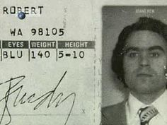 Ted Bundy's driver's license from WA state.
