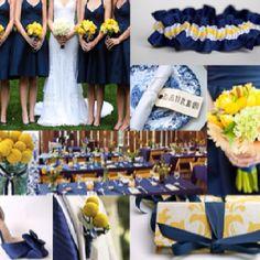 Yellow and Navy Wedding Inspiration