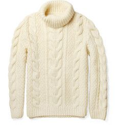Maison Martin Margiela Chunky Cable-Knit Wool Sweater