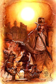 Adventures of Indiana Jones - fan art by Paul Shipper
