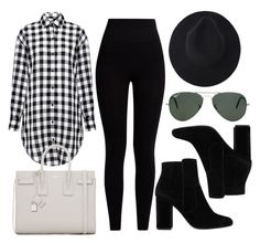 """Untitled #11955"" by vany-alvarado ❤ liked on Polyvore featuring Pepper & Mayne, MANGO, IRO, Ray-Ban and Yves Saint Laurent"