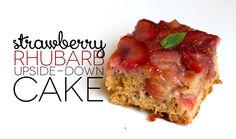 Jenessa's Dinners: Strawberry Rhubarb Upside-Down Cake