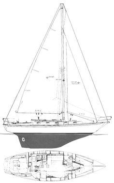 CAPE DORY 36    Hull Type:Long KeelRig Type:Cutter LOA:36.13' / 11.01mLWL:27.00' / 8.23m Beam:10.67' / 3.25mListed SA:622 ft2 / 57.78 m2 Draft (max.)5.00' / 1.52mDraft (min.) Disp.16100 lbs./ 7303 kgs.Ballast:6050 lbs. / 2744 kgs. SA/Disp.:15.67Bal./Disp.:37.57%Disp./Len.:365.16 Designer:Carl Alberg Builder:Cape Dory Yachts (USA) Construct.:FGBal. type: First Built:1978Last Built:1990# Built:166
