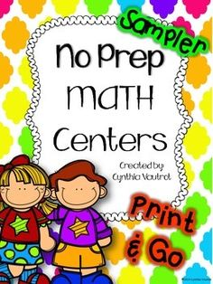 Free: Thank you for helping me reach an important milestone in my TPT store.  Your belief and support of my products is so greatly appreciated!Three sample math centers are included in this unit (one from each of the below full units).2nd Grade No Prep3rd Grade No Prep4th Grade No Prep(See previews for EVERY page in these units.) Direction posters are included to put up at each center with explanations for the students to follow, once again making the ease of using these centers a breeze!
