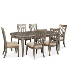 Hayley 7 Pc Dining Set Table 6 Side Chairs