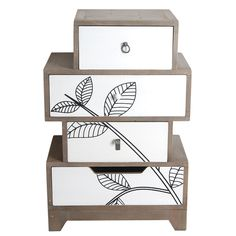 This small Chest of Drawers from our Tilia Range is perhaps one of the more unusual drawer chests we offer. Its 4 drawers are stacked asymmetrically to create an eye catching feature for what could be either a lamp or bedside table. Small Chest Of Drawers, Set Of Drawers, Wood Boxes, Leaf Prints, Discount Designer, Home Goods, Branding Design, Decorative Boxes, Room Decor