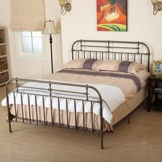 Nathan Queen Sized Metal Bed Frame By Christopher Knight Home By  Christopher Knight Home