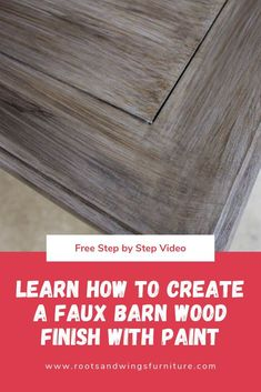 Looking for this popular barn wood tabletop look? Learn how to create a faux barn wood finish with paint. Get the step by step guide here.