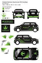 Envoltura para vehículo con el logotipo de Herbalife (Mini Cooper)