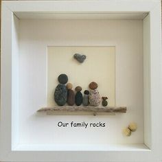 Pebble art picture Family of 5 and a dog Stone Pictures Pebble Art, Stone Art, Family Pictures, Art Pictures, Welcome Pictures, Rock Family, Pebble Art Family, Picture Frame Art, Sea Glass Crafts