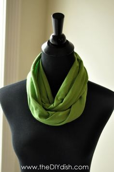 Infinity scarf out of a t-shirt. Tested: http://pintester.com/2012/01/t-shirt-infinity-scarf/