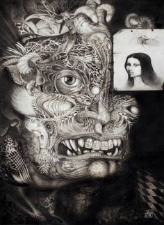 "Saatchi Art Artist Otto Rapp; Drawing, ""THE BEAST OF BABYLON"" #art"