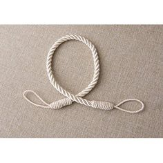 """Pair of Large 1"""" Thick, Natural, Linen Color Rope Tiebacks, 18"""" Long, Indoor/outdoor use   Manufactured and sold Exclusively by DecoPro"""