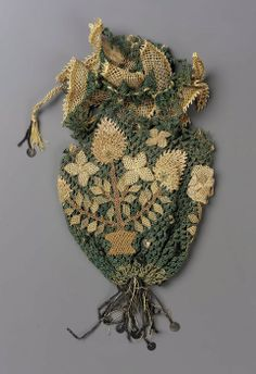 18th century, England (probably) - Purse - Embroidery, needlework