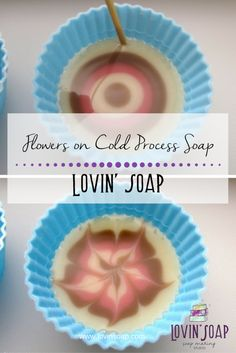 Flowers on Cold Process Soap -  Soap | Handmade Soap | DIY Soap | Soap Making | Soapmaking | Learn to make soap | Natural Soap | Soap Recipe | Soap Tutorial