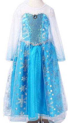 Girl Frozen Princess Queen Elsa Cosplay Costume by StarMinnie, $22.00