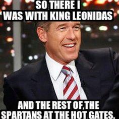 Brian Williams: The original Spartan.