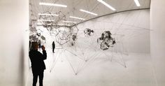 dynamic and hypnotic #stillnessinmotion #cloudcities by @studiotomassaraceno @sfmoma - #studiotomassaraceno #sfmoma - took me a minute to get to this installation - many other engrossing exhibits also on now - definitely recommend a visit to the expanded and uplifted #sf #sanfrancisco museum - look for an upcoming review from @fngeronthepulse