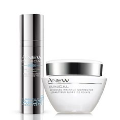 Improve the look of fine lines and deep wrinkles. The Pro+ Line Eraser acts as the perfect serum to be followed up with the Advanced Wrinkle Corrector to visibly plump out wrinkles and fine lines. A $63 value. Regularly $39.00, buy Avon Skincare online at http://eseagren.avonrepresentative.com #antiaging #wrinkles #anew #skincare #avon