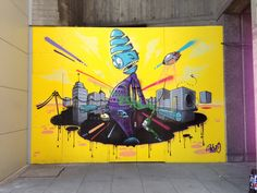 This is 3Dom's final piece from the Southbank yesterday #wallsproject. So dope! Come down today to see the finished pieces!