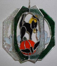 Halloween Whirl by White Rabbit Stained Glass