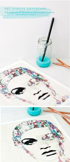 water color twiggy. love this idea