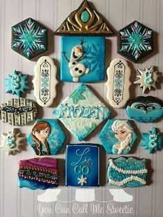 Frozen the movie cookies