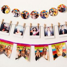 photo garland - perfect party decor or for a baby or wedding shower! so cute!