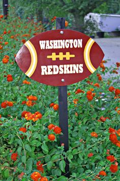 #Washington #Redskins #football #yard stake.  It's in my #Etsy shop.  We make any team of your choice.