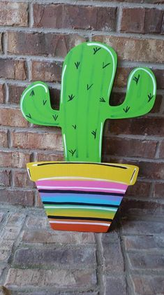 Your place to buy and sell all things handmade cactus door hanger cactus door sign summer door hanger Door Hanger Printing, Burlap Door Hangers, Cactus Decor, Wood Cutouts, Deco Table, Front Door Decor, Door Signs, Wooden Doors, Classroom Decor
