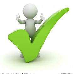 3d man showing thumbs up with green check mark over white