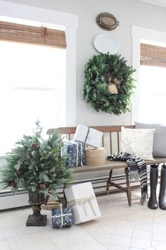 Christmas Entryway with Balsam Hill - Rooms For Rent blog ...