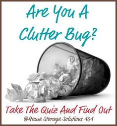 Are you a clutter bug? Take this quiz and find out! {on Home Storage Solutions 101}
