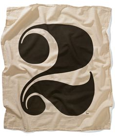 House cotton flour sack towels #numerals