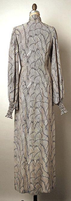 Evening dress, Thea Porter, 1970-1973, silk.