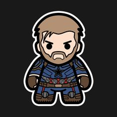 Shop Captain captain america t-shirts designed by garistipis as well as other captain america merchandise at TeePublic. Baby Marvel, Chibi Marvel, Marvel Heroes, Marvel Avengers, Spiderman Infinity, Avengers Infinity War, Comic Book Characters, Marvel Characters, Comic Character