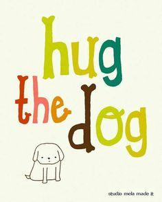 Hug the Izzy.