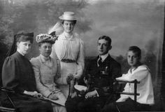 """Grand Duchess Elisabeth Feodorovna Romanova of Russia,Princess Victoria of Hesse (Darmstadt) and By Rhine,Grand Duchess Maria Pavlovna Romanova of Russia (the Younger),Prince Wilhelm of Sweden,Prince Lennart of Sweden. """"AL"""""""