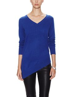 Carly Cashmere Asymmetrical Sweater by Sea Bleu Cashmere at Gilt