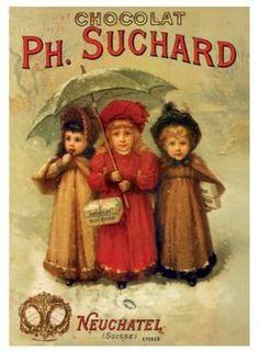 Vintage poster for Ph Suchard Chocolate, Neuchatel, Switzerland