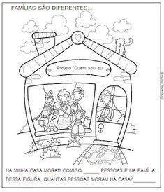 ♥ Sorvete Colorê ♥: Projeto Quem Sou eu? Reggio, Clip Art, Album, Education, Children, School, School Projects, Family History, Coloring Pages