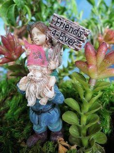 ELLIE /& DIGBY NEW MINIATURE GARDEN FAIRY /& GNOME FRIENDS 4-EVER