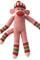 Crocheted striped monkey! Free after signing up for account on Patons site. Many more free patterns, too.