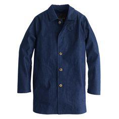Mackintosh® Laggan half-trench coat in Japanese chambray : Mackintosh | J.Crew