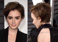 """Neste ano Lily Collins resolveu repaginar o visual e apareceu no OSCAR 2015 de cabelos curtinhos e muito sexy. O novo corte """"joãozinho"""" ou """"pixie whispy"""" –lhe …"""